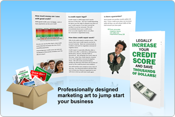 Weve Included All These Tools To Jump Start Your Business Marketing Guide Microsoft Publisher Templates For Credit Repair Brochures